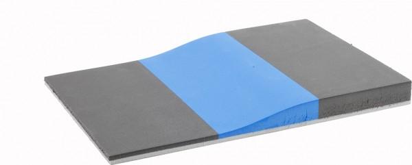 Fräskeil Deluxe 3-schichtig dgrau/blau/dgrau 60/40/60 Shore